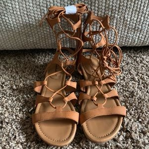 Breckelle's Lace Up Gladiator Sandals